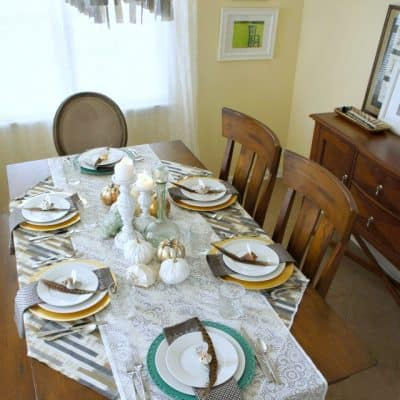 coastal thanksgiving table setting