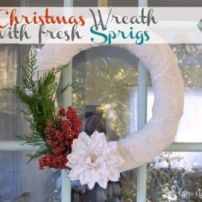 Christmas Wreath with Fresh Sprigs