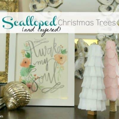 DIY Scalloped Christmas Trees