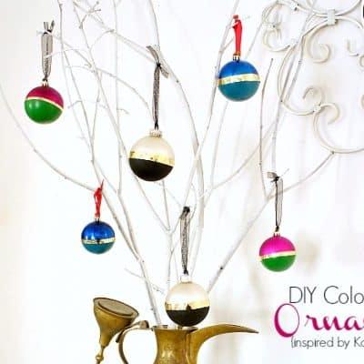 DIY Color Block Ornaments