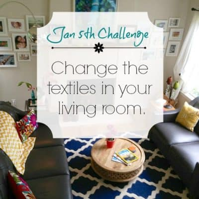 Love Your Space Challenge: Jan 5th