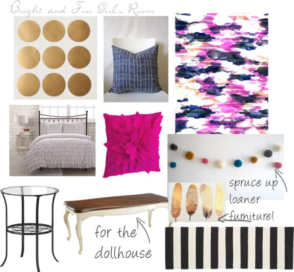 bright and fun girl's bedroom