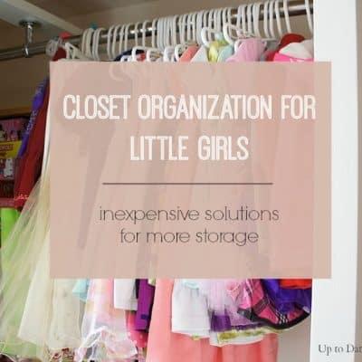 closet organization for little girls