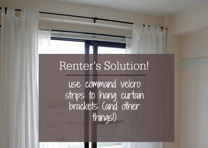 hang curtains without putting holes in the wall | up to date interiors