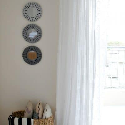 Hang curtains in your rental without putting holes in the wall!