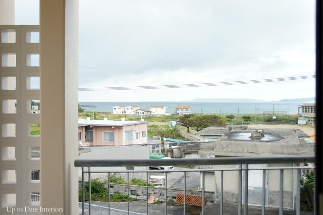 ocean view from house rental in Japan