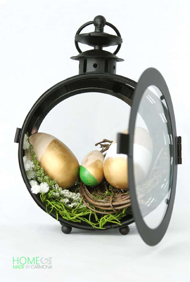 Easter-Egg-Display-In-A-Lantern