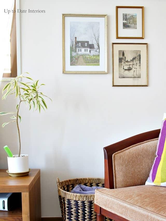 Spring interior decor with art