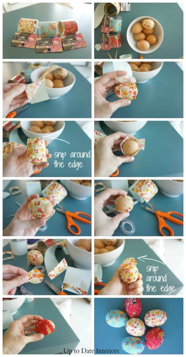 dollar store modern easter egg idea with washi ribbon tape