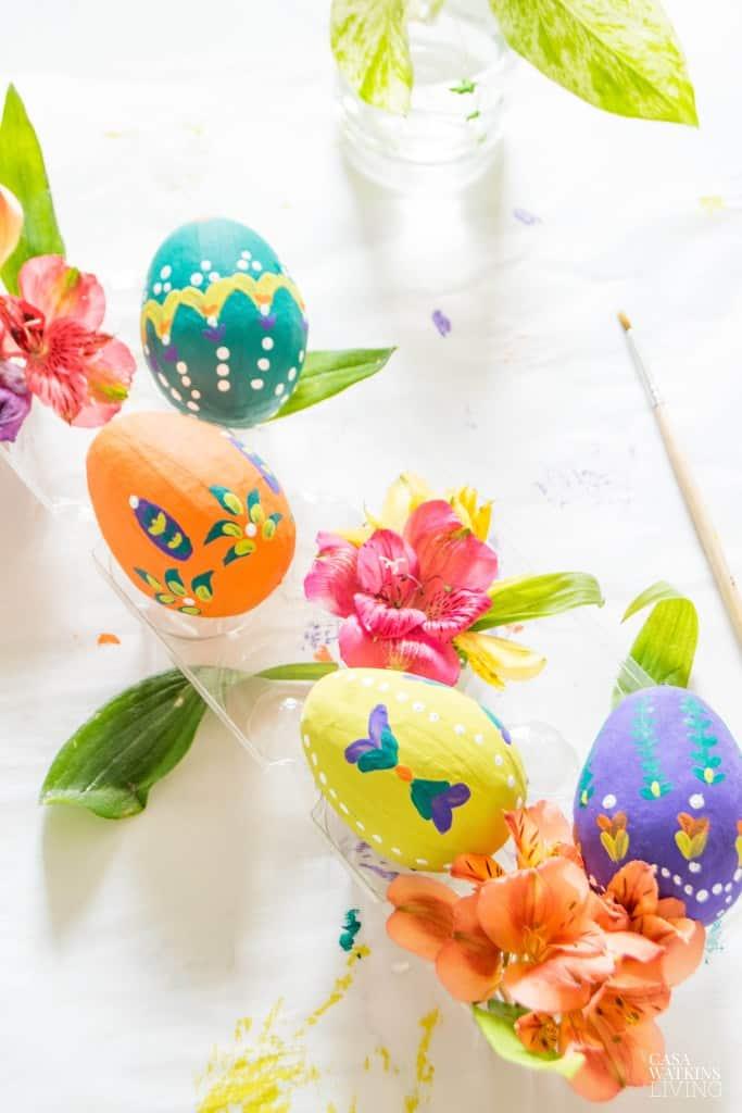 How To Paint Folk Art Easter Eggs