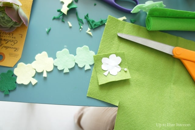 cut out ombre shamrocks