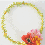 Zinnia Wreath Pinterest Black