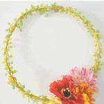 Zinnia Wreath Pinterest Yellow