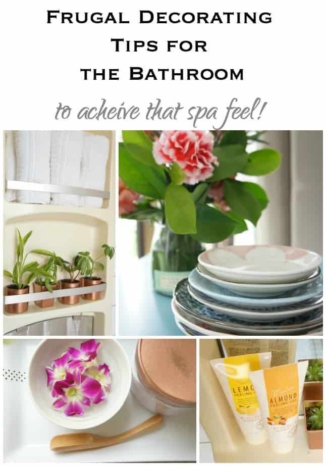 frugal decorating tips for the bathroom that are renter friendly