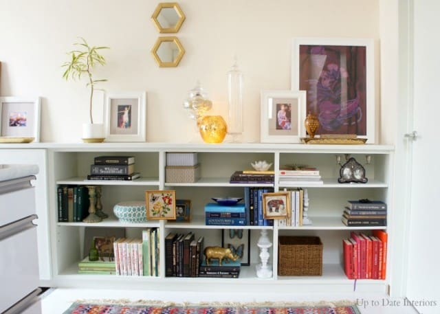 renter friendly decorating tips for styling your bookcase