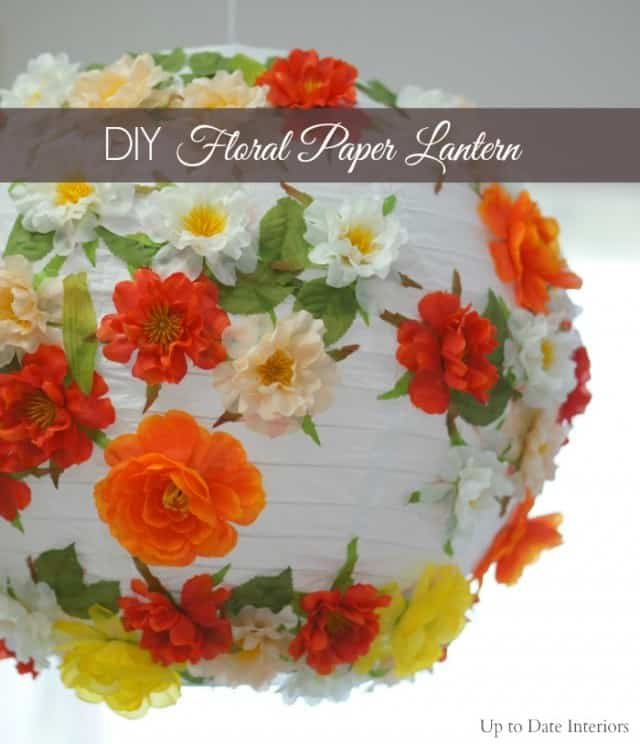 Diy floral paper lantern and summer table decor up to date interiors mightylinksfo
