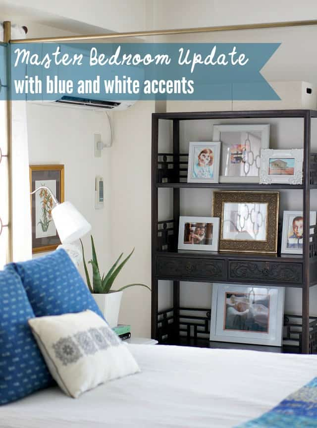 Master Bedroom Updates master bedroom update in blue and white | up to date interiors