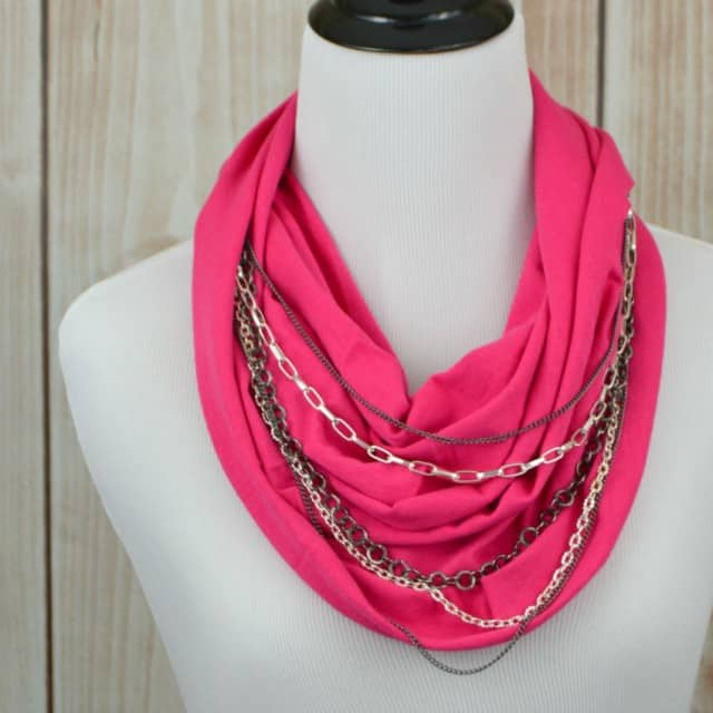 Chain Embellished Infinity Scarf Sample Photo