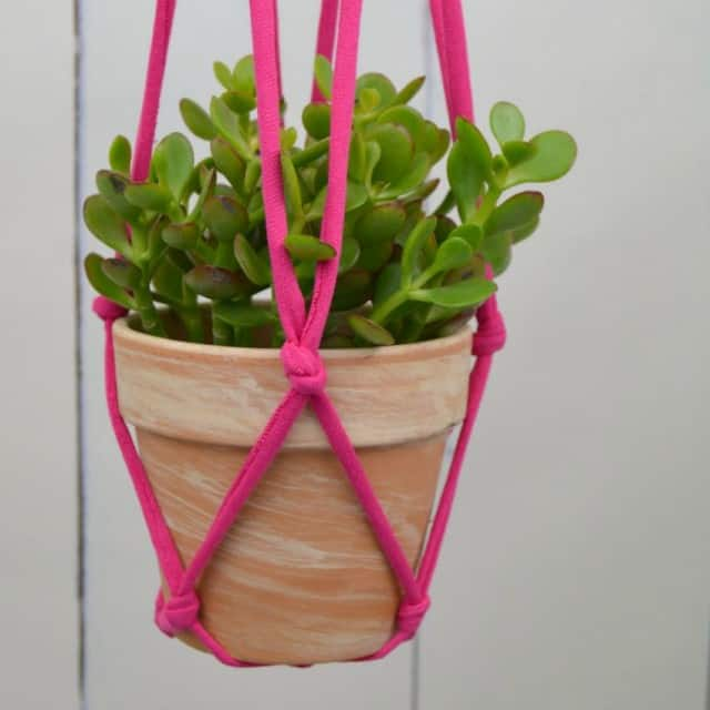 Knotted Hanging Planter Sample Photo