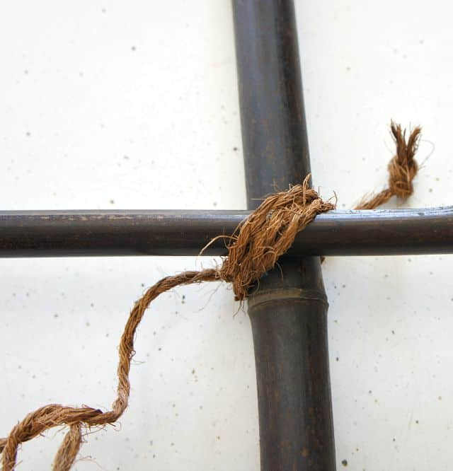 twine on blanket ladder