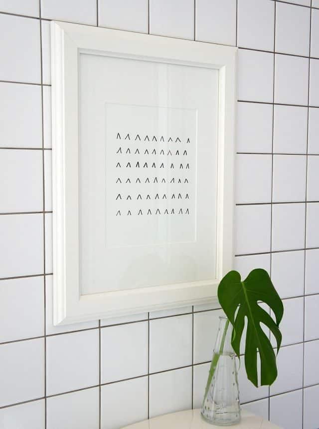 easy diy art for the bathroom with a sharpie