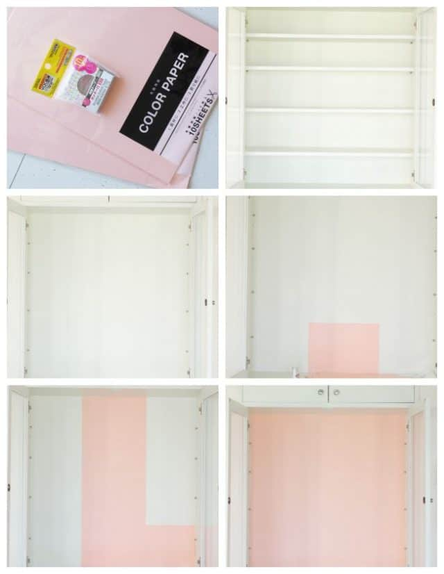 Easy renter friendly cabinet makeover with step by step instructions for under $5!