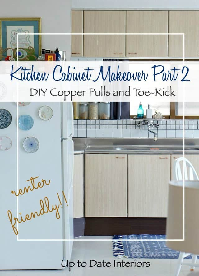 rental kitchen cabinets makeover with contact paper