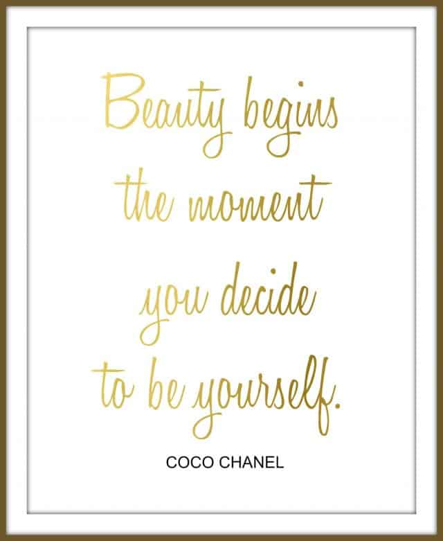 coco-chanel-quote-gold-white-framed
