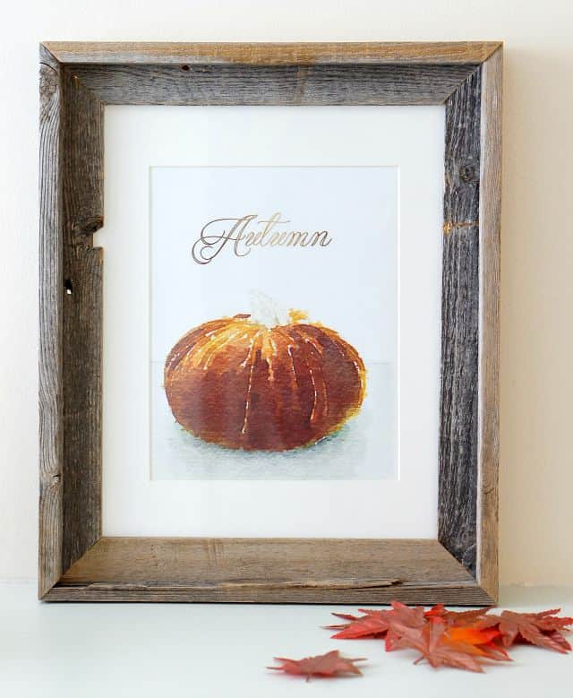 watercolor pumpkin free printable