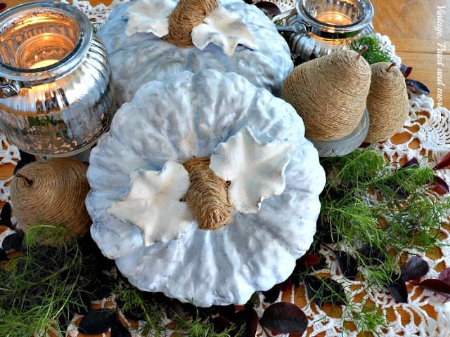 blue pumpkin centerpiece