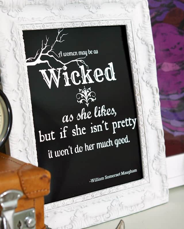 free wicked printable perfect for a witches tea party