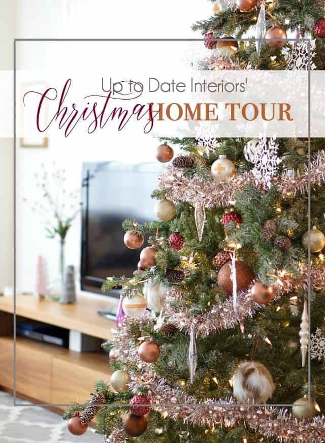 eclectic and mdoern christmas home tour with renter friendly DIYs and decor