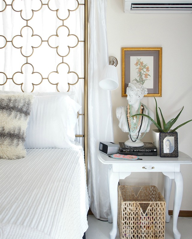 his and hers - how to style different bedside tables | up to date Different Nightstands