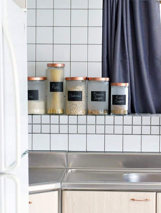 transform ikeas glass canisters with spray paint and chalk paint