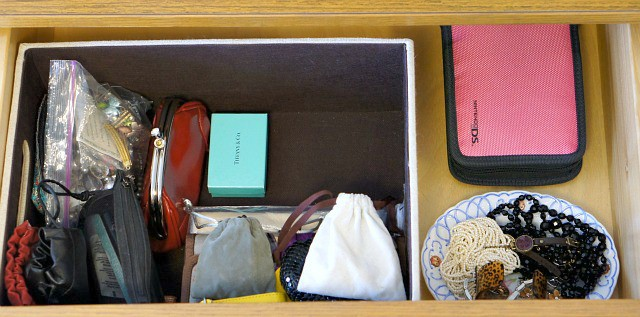 drawer organized with jewelry the magic of tidying up