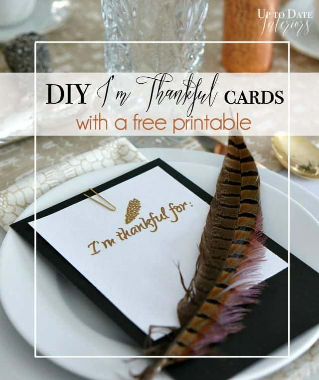 Free I'm thankful for printable cards for thanksgiving