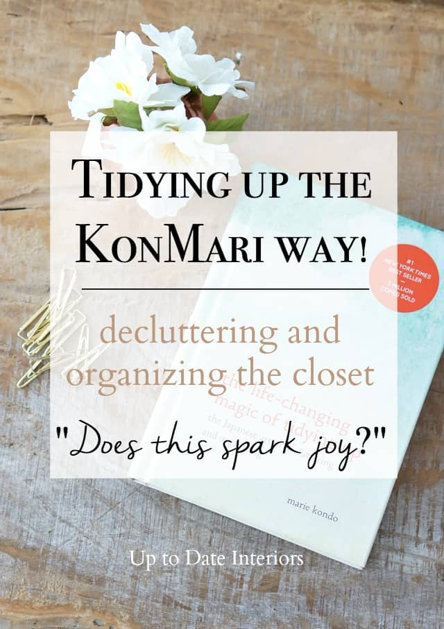 KonMari book and title decluttering  the closet