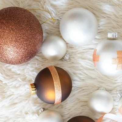 Repurposed Ornaments with Ribbon Tape