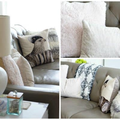 DIY Winter Pillow Covers
