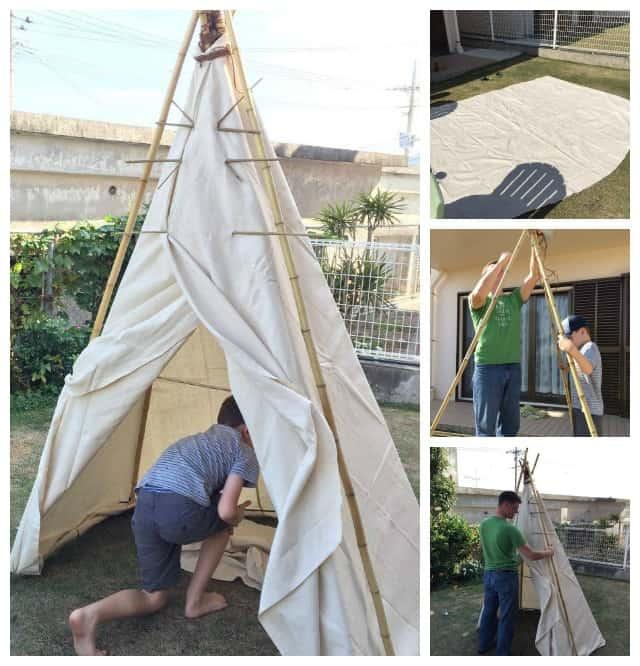teepee-making