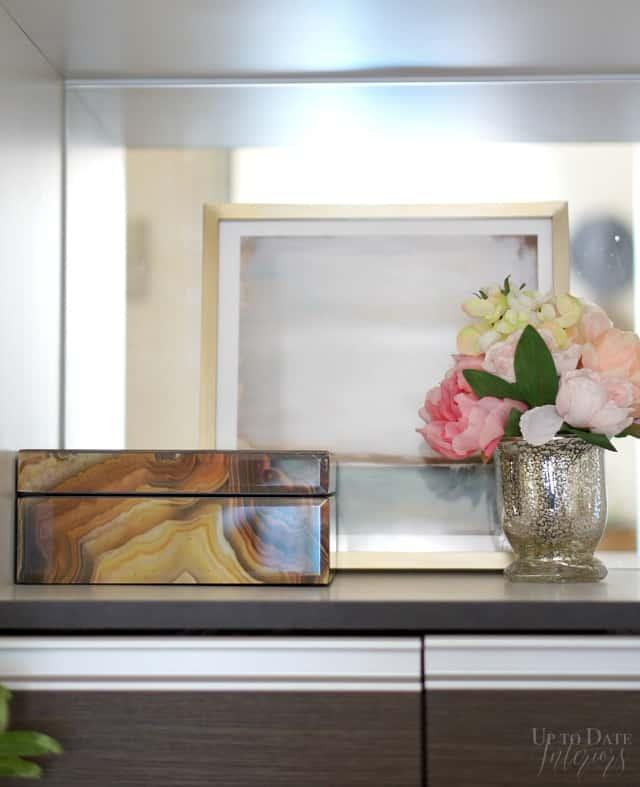 bathroom floral storage