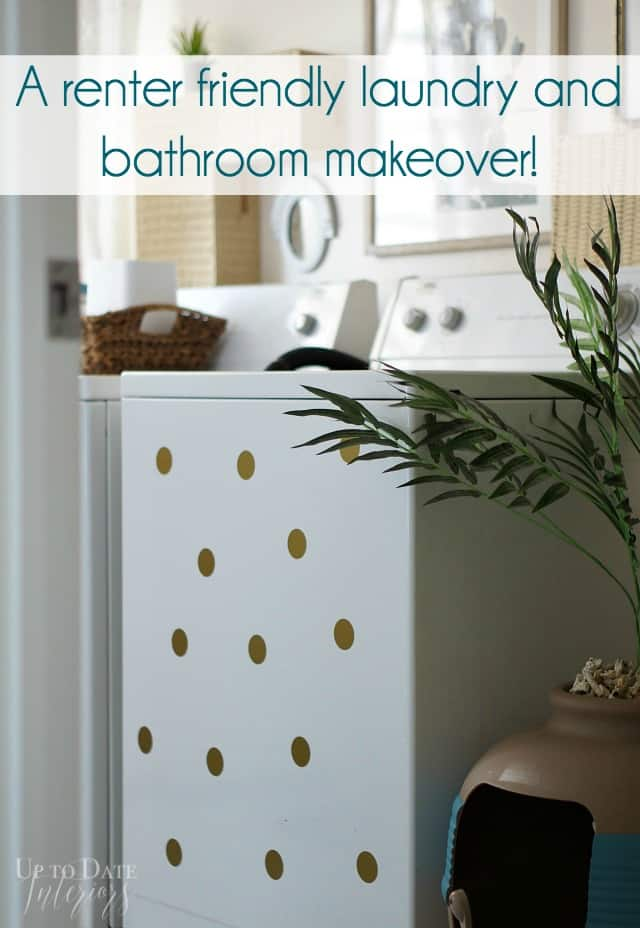 rental laundry room makeover