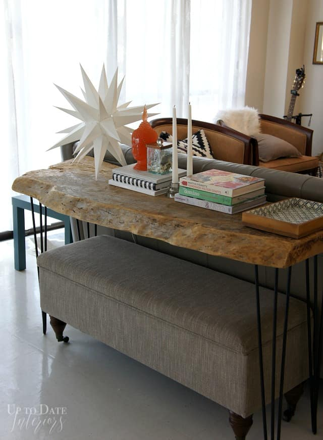 Vertical Console Table ~ Sofa table styling and hop up to date interiors