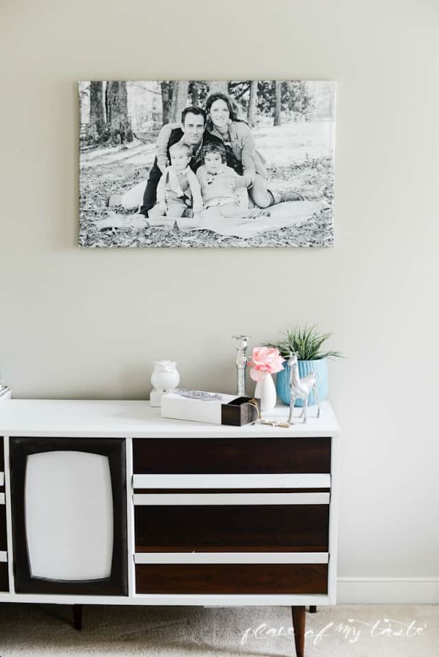modern large family photo