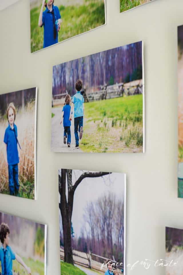 large modern photo wall