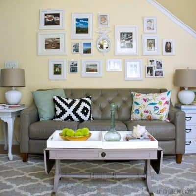 photo gallery wall in white