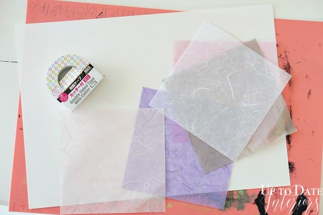 DIY Art with Washi Paper and thrifted frame