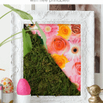 Diy Moss Art Pinterest Black
