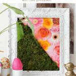 Diy Moss Art Pinterest Green