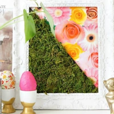 Happy Spring and Spring Moss Art